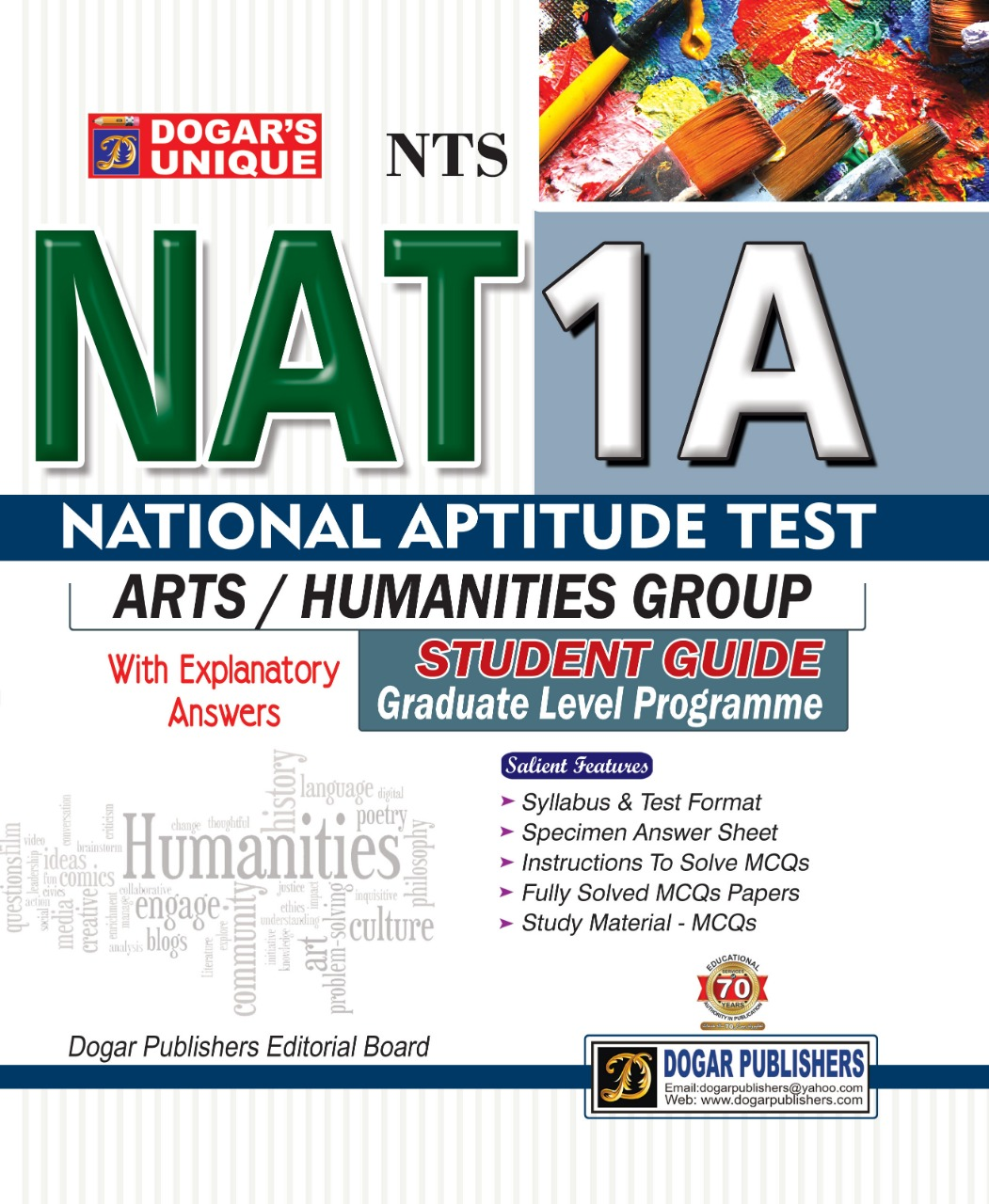 NTS (National Testing service) NAT 1A (National Aptitude Test) Arts/ Humanities Group
