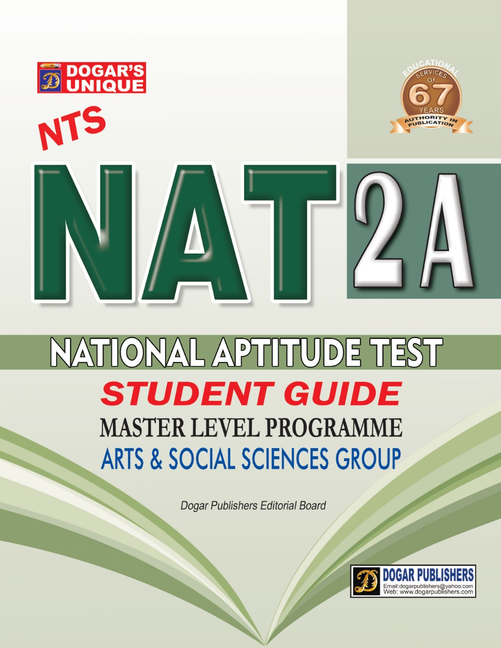 NTS (National Testing service) NAT 2A (National Aptitude Test) Master Level Programe Arts & Social Science Group